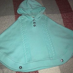 Gymboree knitted cape with hood